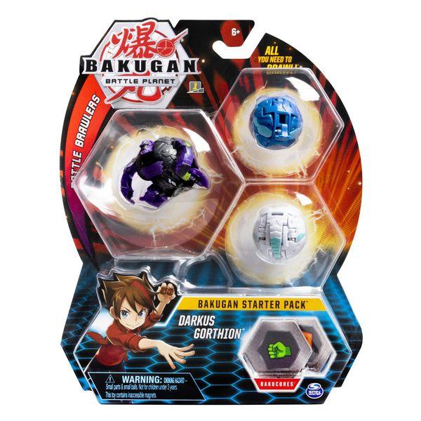 Bakugan 3 pack Darkus Gorthion