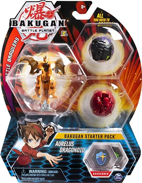 Bakugan 3 pack Aurelius Dragonoid