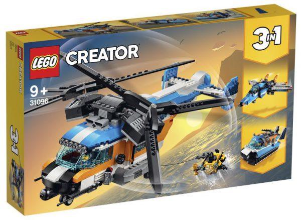 lego creator Dubbel-rotor helikopter 9+