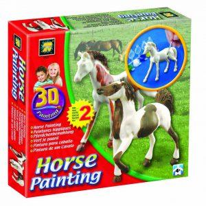 horse painting 3D paardjes inkleuren