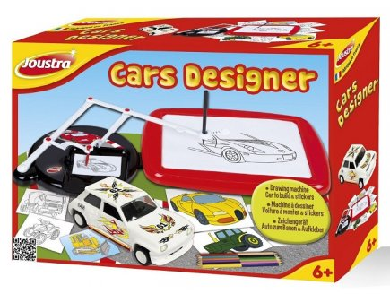drawing machine car to build & stickers