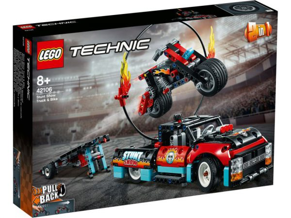 lego rechnic Truck en motor voor stuntshow