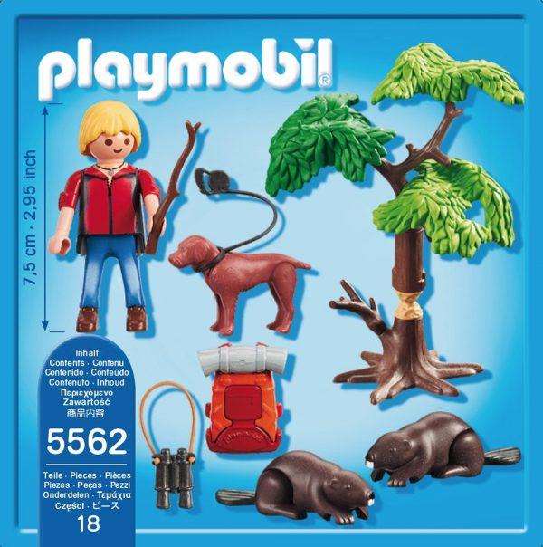 playmobil wild life natuurwetenschapper met bevers