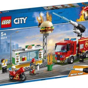 lego city Brand bij het hamburgerrestaurant