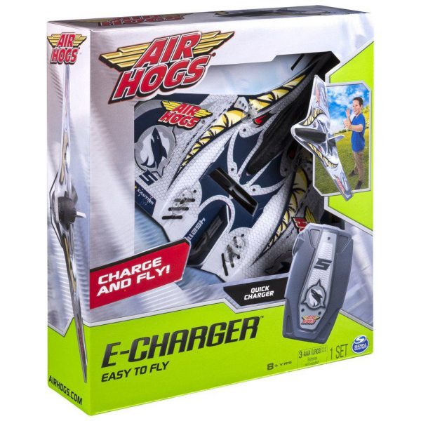 Air hogs E-charger plane (grijs)
