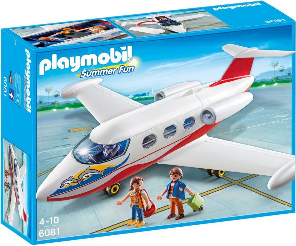 playmobil vliegtuig milliardairs met prive piloot