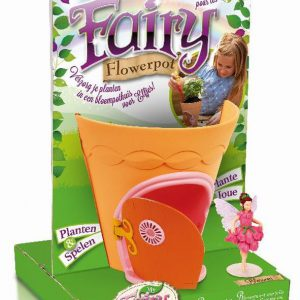 girls fairy flowerpot