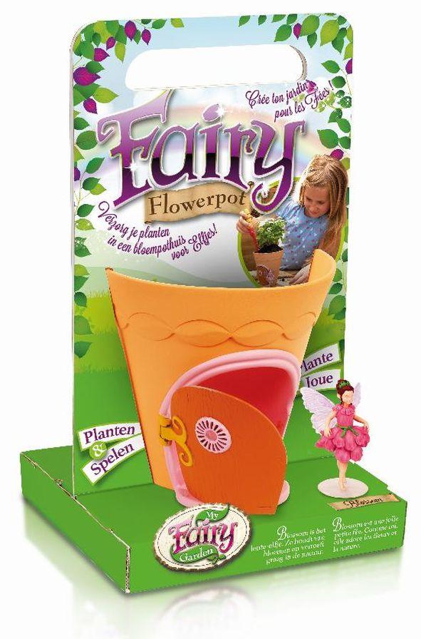 girls fairy flowerpot