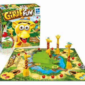 giraf fun megableu-de race om de hoedjes