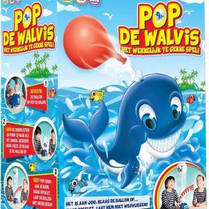 POP DE WALVIS is een leuk spel waarbij de spelers beurt om beurt de ballon opblazen en vooral trachten niet diegene te zijn die de ballon laat wegvliegen met een luid gefluit!