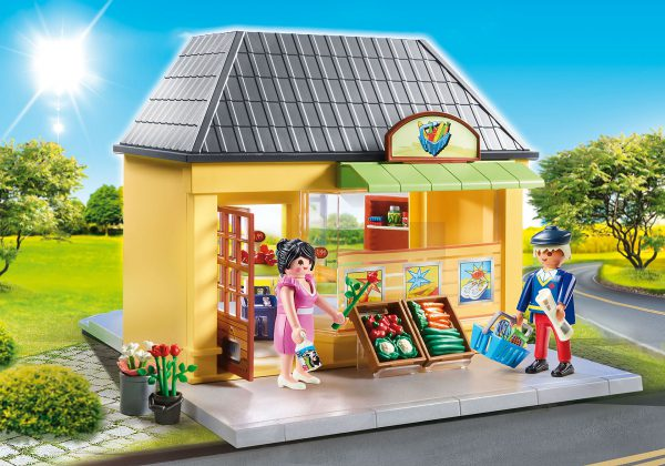 playmobil  city life voedingswinkel