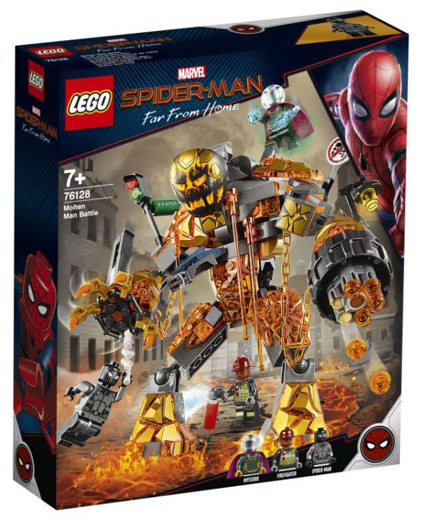 lego Spiderman - Molten Man duel
