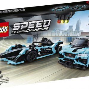 lego speed Formula E Panas Jaguar Racing GEN2 car & Jaguar