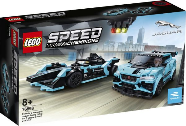 lego speed Formula E Panas Jaguar Racing GEN2 car & Jaguar