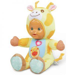 Dieren knuffelpop giraf met gezongen liedjes, grappige zinnetjes en een verhaaltje 1-6 Jaar