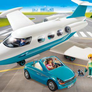 playmobil city life vliegtuig+auto