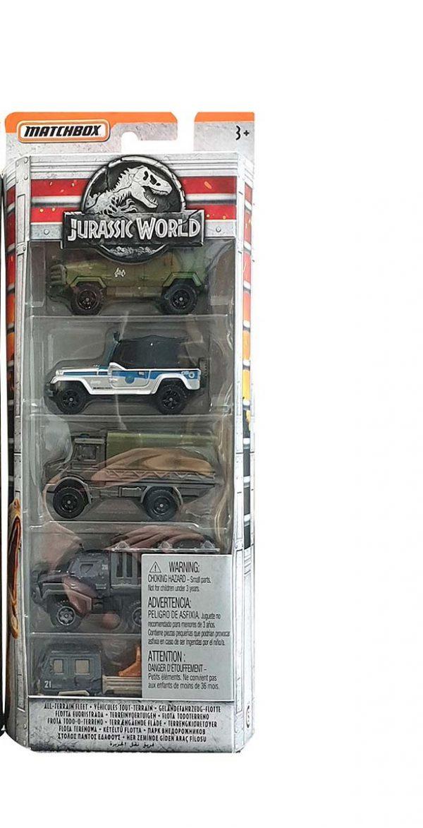 matchbox 5 pack jurrassic world all terrain