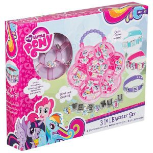girls my little pony 3in 1 bracelet set